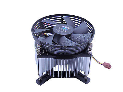 Aluminum Heat sink Fan for 20W 30W High Power LED Light / CPU Processor Cooling