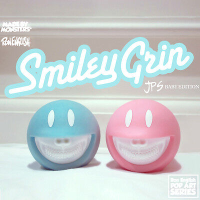 Ron English x Made by Monsters JPS Smiley Grin Baby Blue & Pink Edition Art Toys
