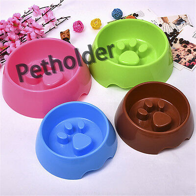 Wholesale 48 Pet Dog Cat Slow Eating Feeder Bowl Puppy Plastic Feed Bloat Dish