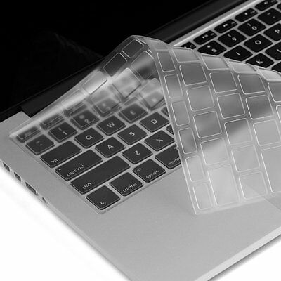 """Clear Keyboard Skin Cover for MacBook Pro 13"""" 15"""" 17"""""""