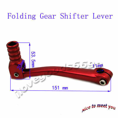 Red Folding Gear Shifter Lever Fit XR50 CRF50 CRF70 SSR 125 110cc 160cc Pit Dirt