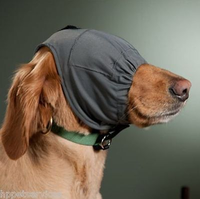 Thundershirt Thundercap for dogs. For excessive barking, anxiety, or fear.