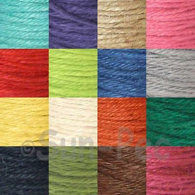 2mm Twisted Burlap Hessian Jute Rustic Rope Ribbon Craft Gift Wrap Cord Twine