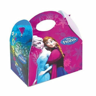 6 Frozen Party Boxes - Official Disney - Loot Lunch Cardboard Gift Food Kids