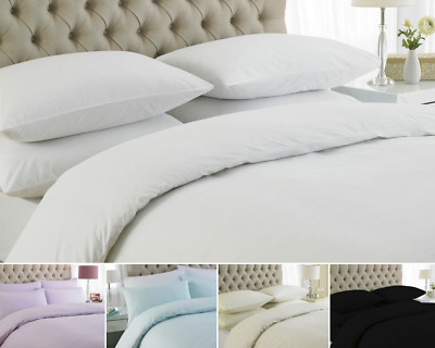 Duvet Cover Set From Great Knot Egyptian Cotton 200 Tc White Ivory Single Double