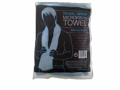 LARGE MICROFIBRE SPORTS / TRAVEL / YOGA / HIKING TOWEL SUPER ABSORBENT6 60x120cm