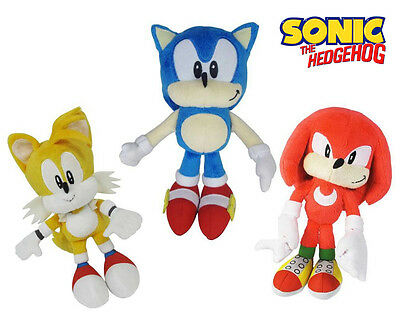 "Sonic the Hedgehog SONIC, TAILS and KNUCKLES 7"" Plush Soft Toy IN STOCK-NOW"