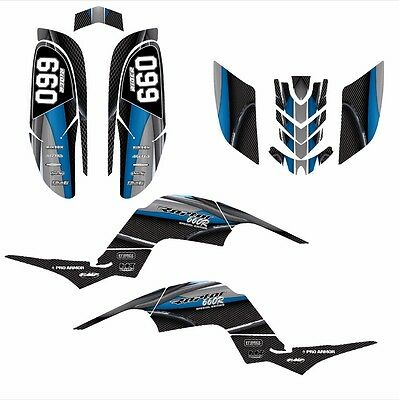 Raptor 660 graphics Yamaha 660R Custom Quad decal sticker kit 5600BLUE