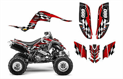 Raptor 660 graphics Yamaha 660R Custom Quad decal sticker kit 3500RED