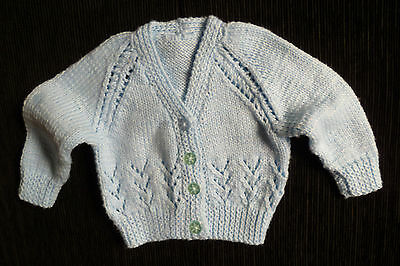 Baby clothes BOY 0-3m lovely patterned blue cardigan handmade SEE SHOP! combine!