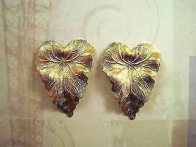 Large Raw Brass Ivy Leaves  (2) - SG1460