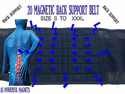 Magnetic Therapy Back Support Lumbar Brace Lower Backache Pain Relief Belt  NEW