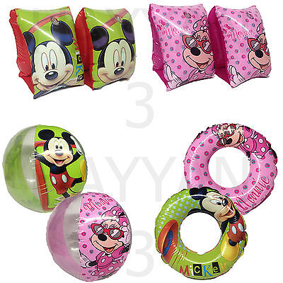 Kids Disney Inflatable Armbands Swim Ring Swimming Minnie Mickey Mouse