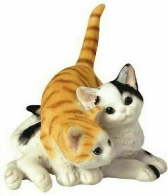 Cat Feline Couple Love Small Figurine Collection Animal Collectible Decor Statue