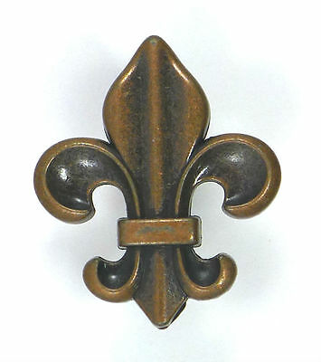 Fleur de Lis Drawer Cabinet Knobs Pull Copper Color Finish French Decor