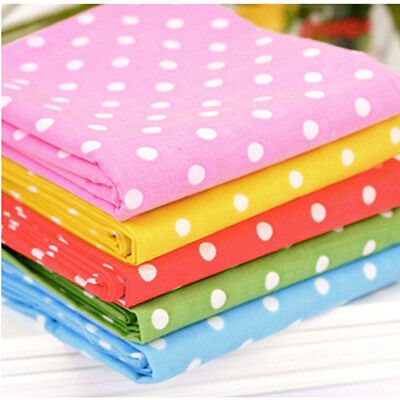"By The Yard 44""*36"" Cotton Blend Fabric 8 COLORS CANDY DOT Sewing Quilting Craft"