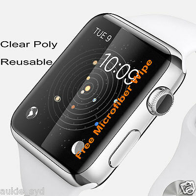 2(Two) of Clear Apple Watch/Watch2 Screen Protector/Cover/Film for Size 38/42mm