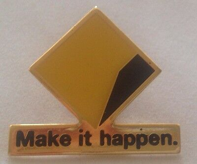 New Commonwealth Bank Metal Badge Pin - Make it Happen Logo