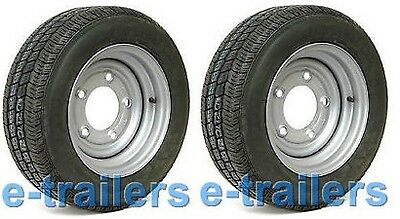 "2x 195x60x12 COMPASS CT7000 TYRE/WHEEL 5 STUD 6.5"" PCD- 900kg IFOR WILLIAMS"