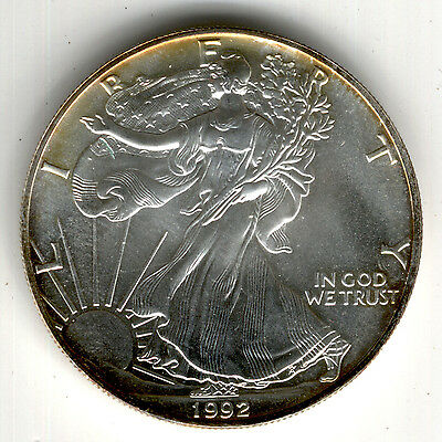 1 Dollar Silberbarrenmünze AMERICAN EAGLE 1992 (1 oz Ag)