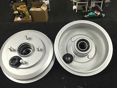 Ford Focus Mk1 1998-2004 2 Rear Brake Drum Zinc Coated Wheel Bearing Fitted