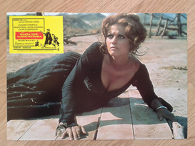 ONCE UPON A TIME IN THE WEST Sergio Leone - rare Spanish LC #6 CARDINALE / FONDA