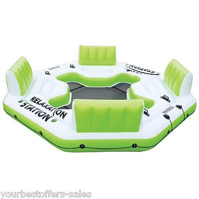 Intex Relaxation Station Water Lounge 4 Person River Tubes Water Inflatables New