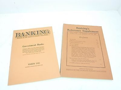 Lot of 2 Great Depression Era Economic Banking Publications BL38-2