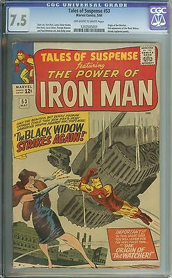 Tales Of Suspense #53 Cgc 7.5 Ow/wh Pages // Origin Of The Watcher