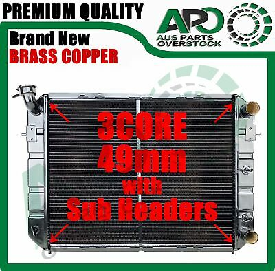 Brand New 3 Row Copper Brass Radiator HOLDEN Commodore VL 6 Cylinder RB30 86-88