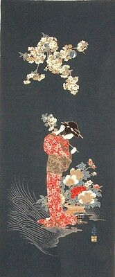 Japanese Cotton Quilt Panel [ Geisha ]