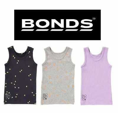 New Bonds Baby Kids Girls Boy Singlet Cotton Chesty Singlets Grey Size 0 00 000