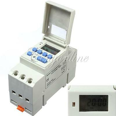 Digital LCD Programmable Timer AC 220V 16A Time Relay Switch DIN Rail Mounting