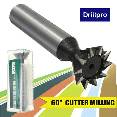 "1Pc 20mm 3/4"" X 60° Degree HSS Dovetail Cutter Milling High Speed Steel Tool"
