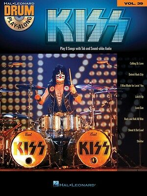 Kiss Drum Play-Along Book and CD NEW 000143937
