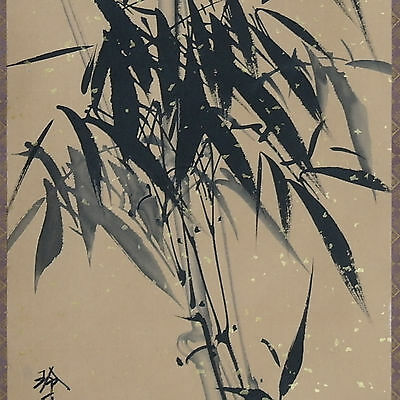 Wall hanging scroll painting stylish bamboo ink and wash painting