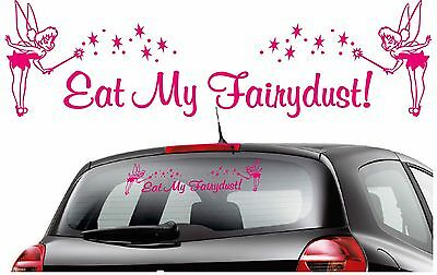 Eat My Fairydust Tinkerbell Graphic Vinyl Car Wall Stickers//Decals Any Colour