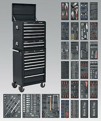 Sealey SPTCOMBO2 - Tool Chest Combination 14 Drawer with Ball Bearing Runners -