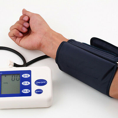 LCD Digital Arm Blood Pressure Upper Automatic Monitor Heart Beat Meter New FT