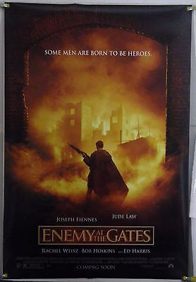 Enemy At The Gates Ds Rolled Adv Orig 1Sh Movie Poster Jude Law Ed Harris (2001)