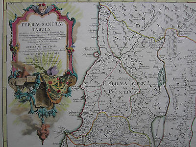 Delisle: Decorative Colored Map Holy Land Israel - 1763