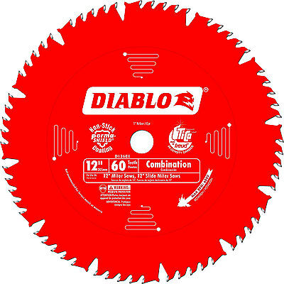 """Freud 12"""" x 60 Tooth Diablo Combination Blade D1260X New"""