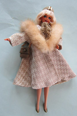 DORIS  DAY 'PILLOW TALK'  BARBIE - OOAK ARTIST DOLL by HUNTER-GOLDBLATT - FUR