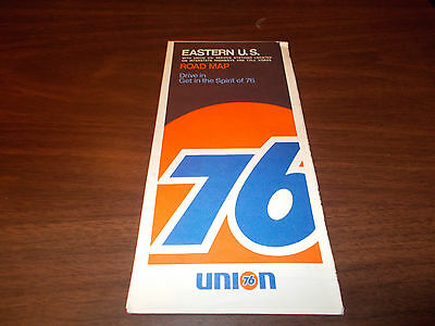 1970 Union 76 Eastern US Vintage Road Map