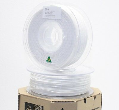 Aurarum 3D printer PLA filament White 1.75 mm made in OZ