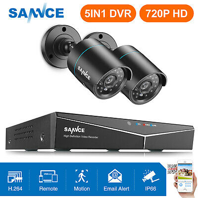 SANNCE 4CH 5in1 CCTV DVR Outdoor 1500TVL 720P Video Camera Home Security System