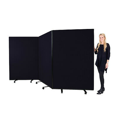 Mobile Large Triple Display Screen Room Divider, Office & School - 14 Colours