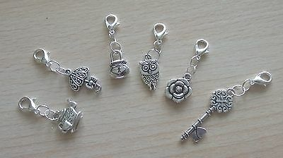 Stitch Markers Holders Knitting Crochet Mixed Design Charms x 6