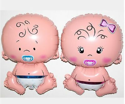 Baby Shaped Foil Helium Balloon Boy Girl Birthday Shower Christening Party Decor