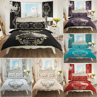 Duvet Cover Set With 2 Pillow Cases Bedding Quilt Cover Set All Sizes Paris